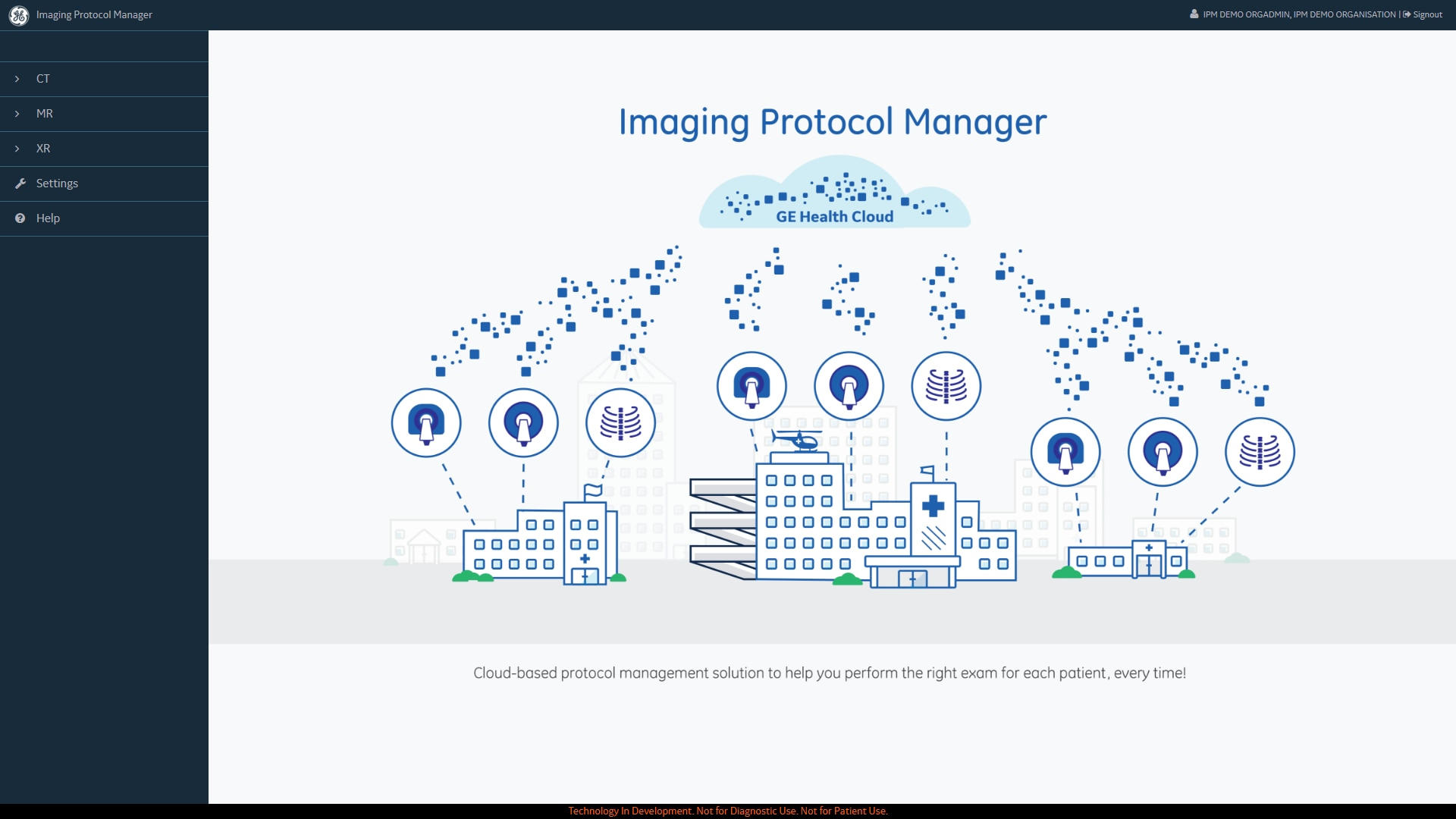 A screenshot of GE Healthcare Imaging Protocol Manager workflow.