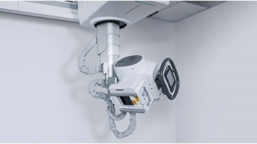 "Discovery™ XR656 HD featuring VolumeRad™, Dual Energy, 17""x17"" detector and the Helix™ Workstation"