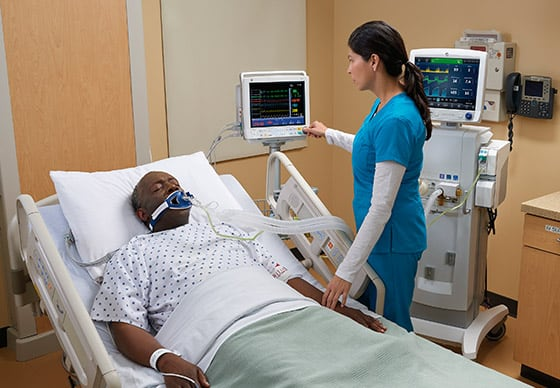 GE Healthcare B40 patient monitor provides continuous flow of quality information of patients.