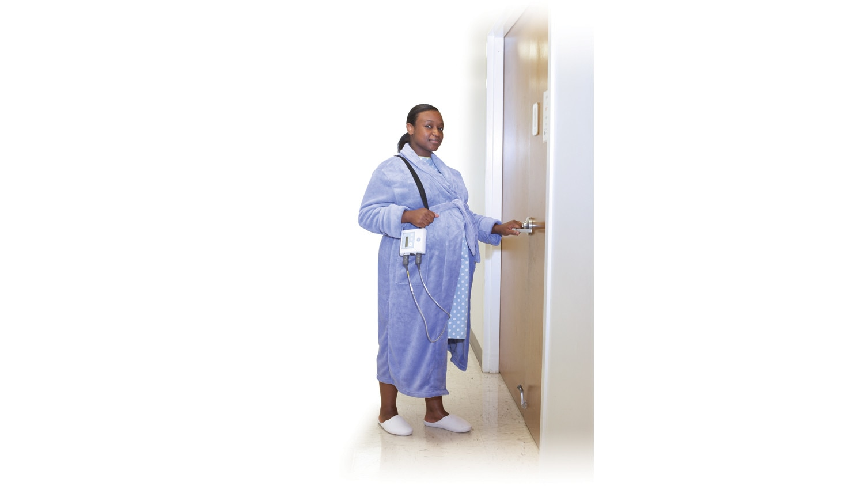 Mini Telemetry System pregnant mother opening door