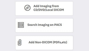 Ingest images from PACs, CD or other media directly