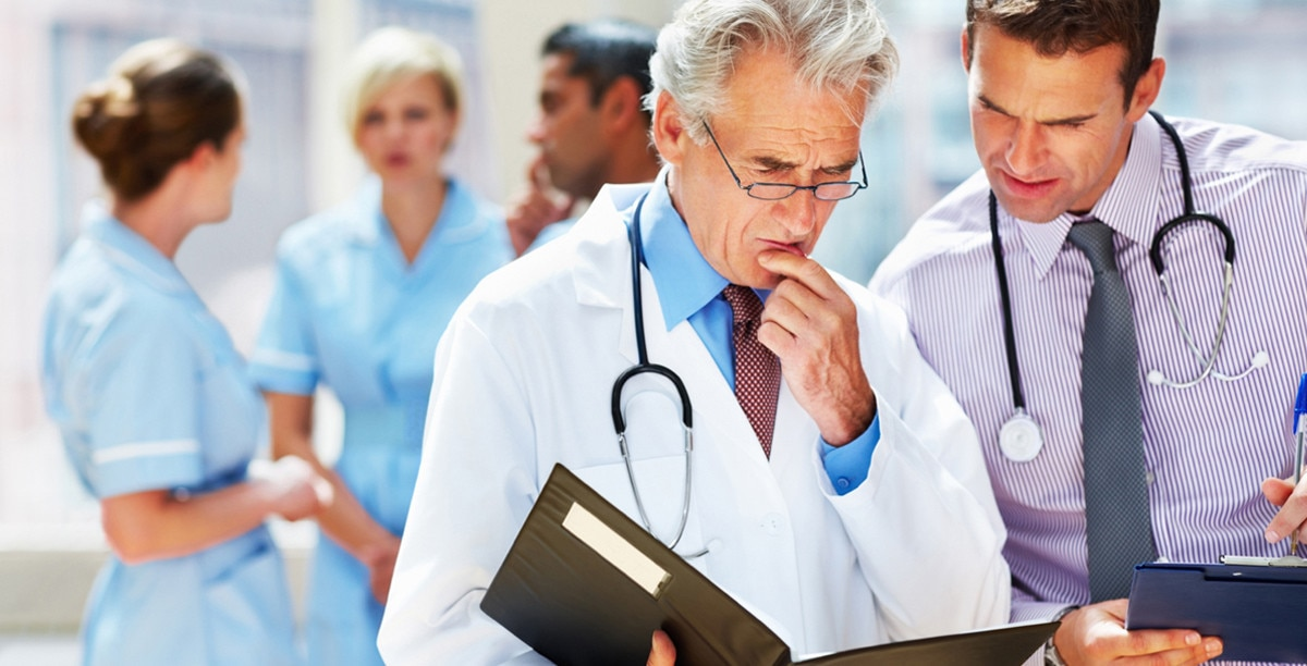 Two physicians consulting